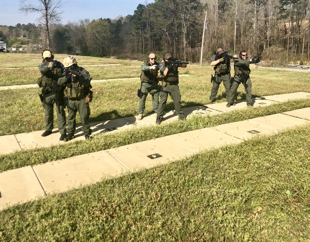 Swat men training