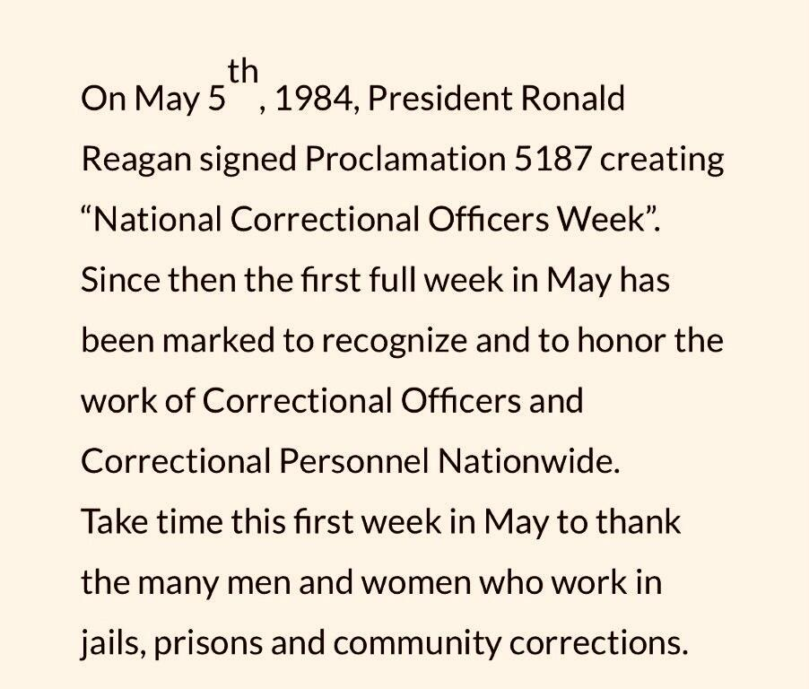 National Correctional Officers Week Proclamation