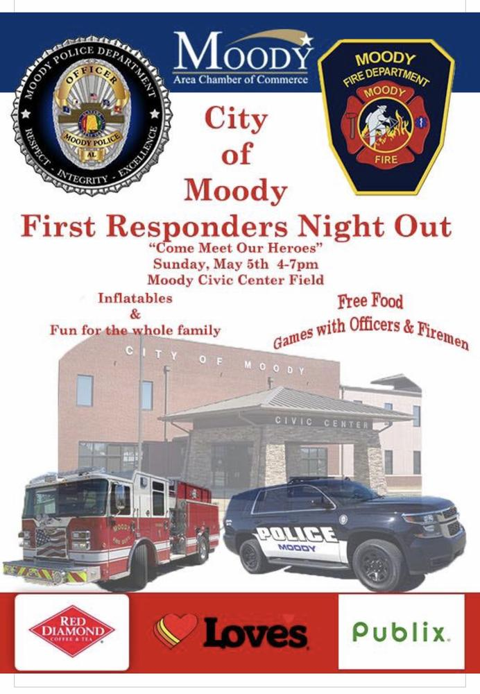 Moody First Responders Night Out Flyer