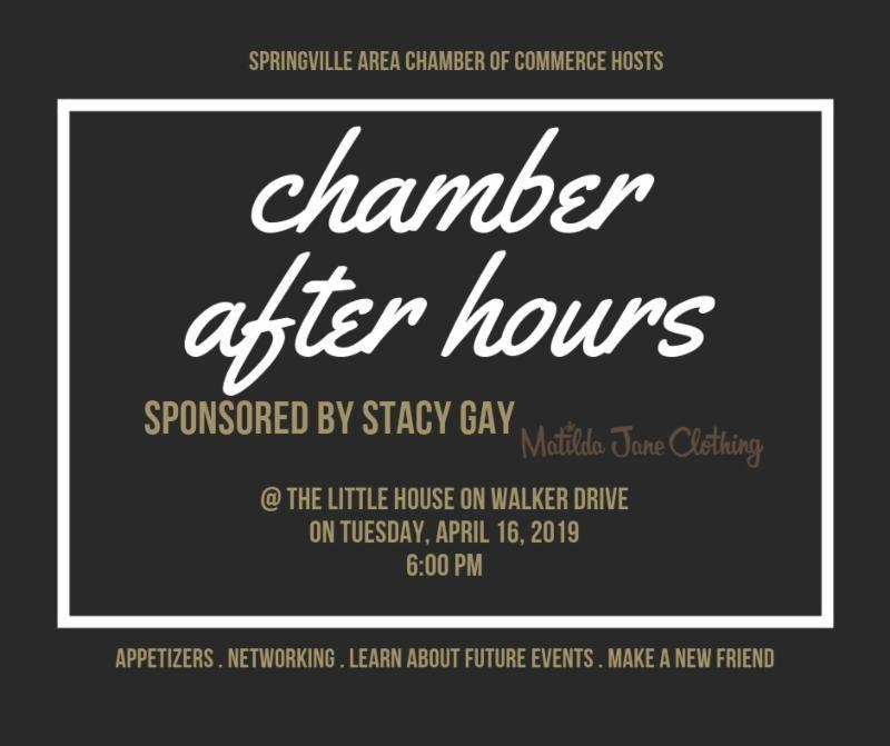 Springville Chamber Afterhours Ad